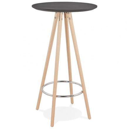 Hoher Tisch essen-up Holz Design Füße Holz natürliche Farbe CHLOE (schwarz)