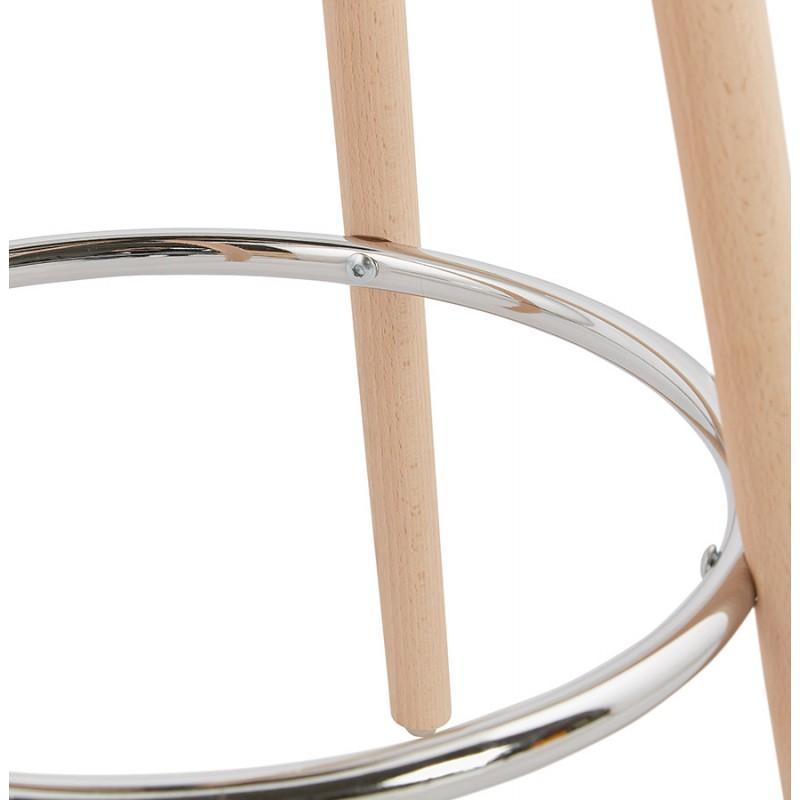Table haute mange-debout design en bois pieds bois couleur naturelle CHLOE (noir) - image 47080