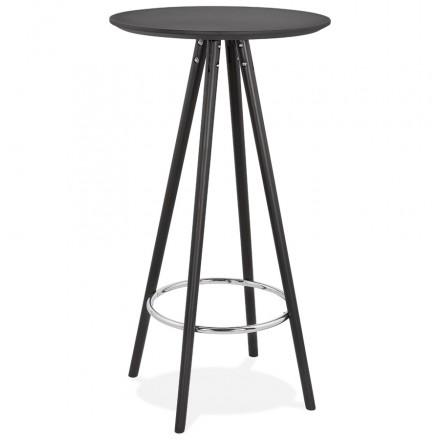 Hoher Tisch isst aufholzt Holzdesign Holzfüße CHLOE (schwarz)