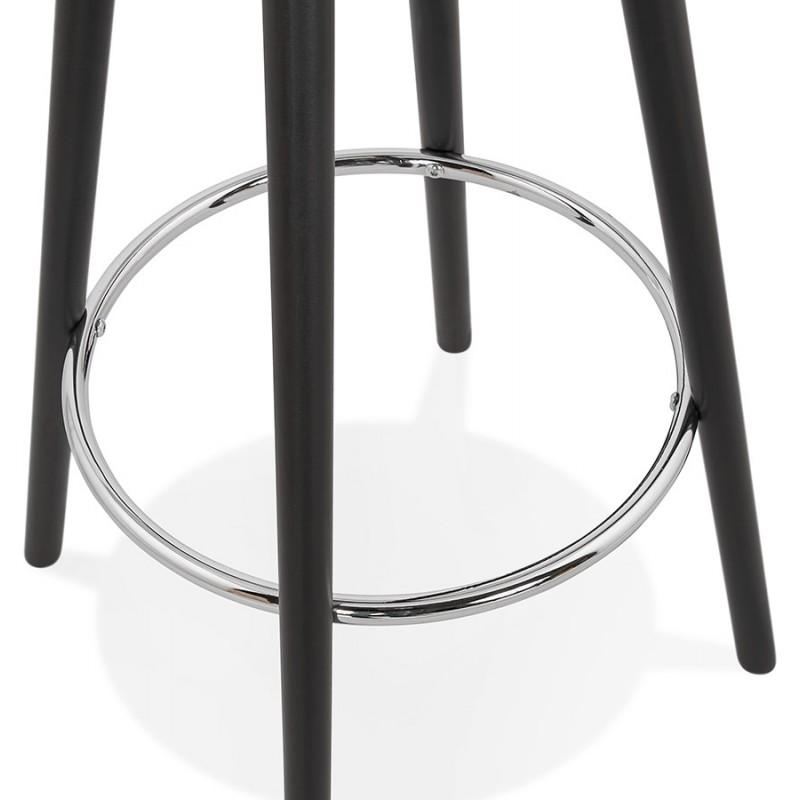 Table haute mange-debout design en bois pieds bois CHLOE (noir) - image 47089
