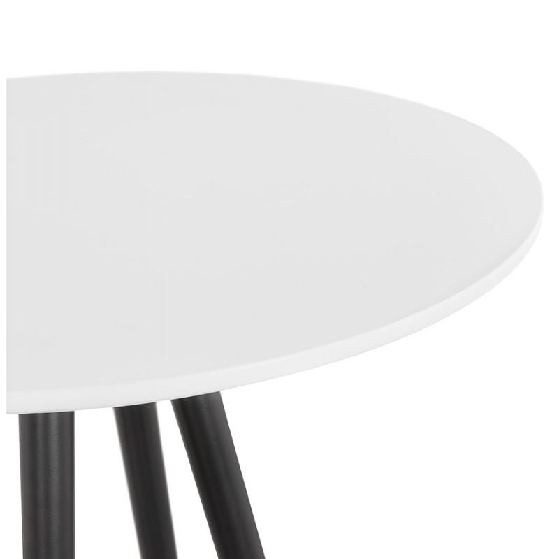 Table haute mange-debout design en bois pieds bois noir CHLOE (blanc) - image 47097