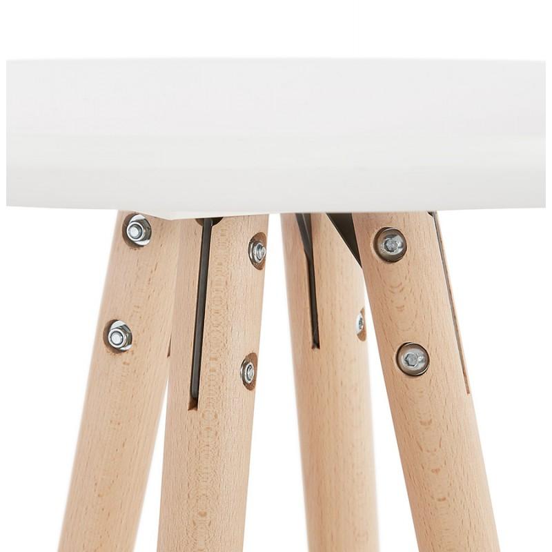 Table haute mange-debout design en bois pieds bois couleur naturelle CHLOE (blanc) - image 47105