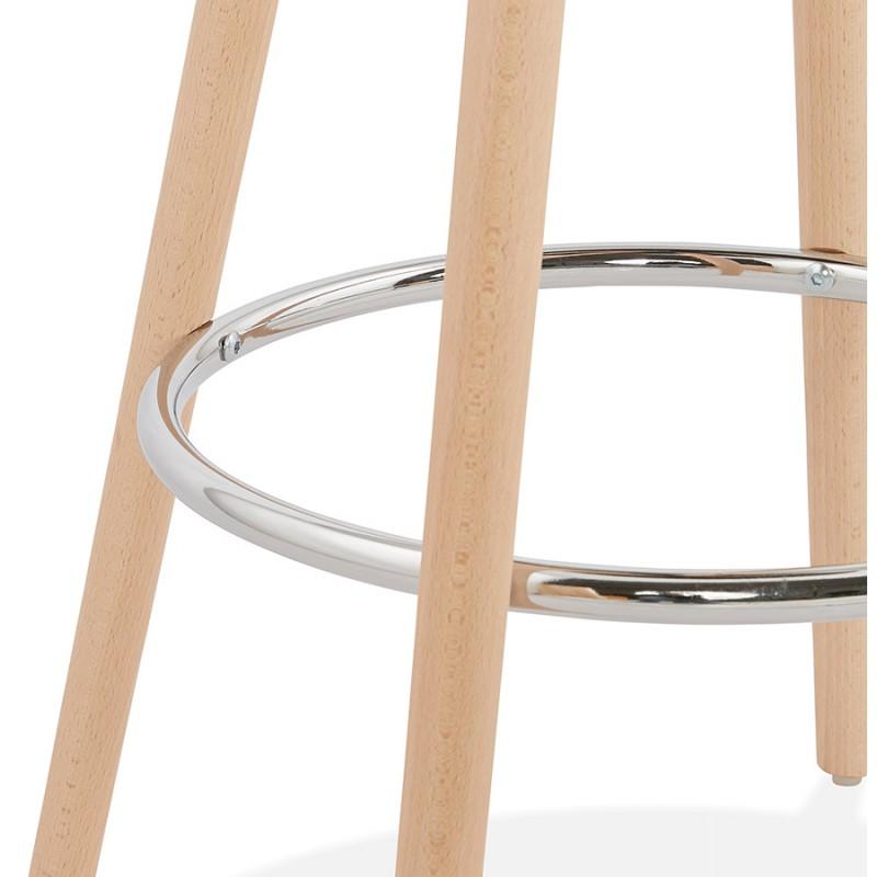 Table haute mange-debout design en bois pieds bois couleur naturelle CHLOE (blanc) - image 47108