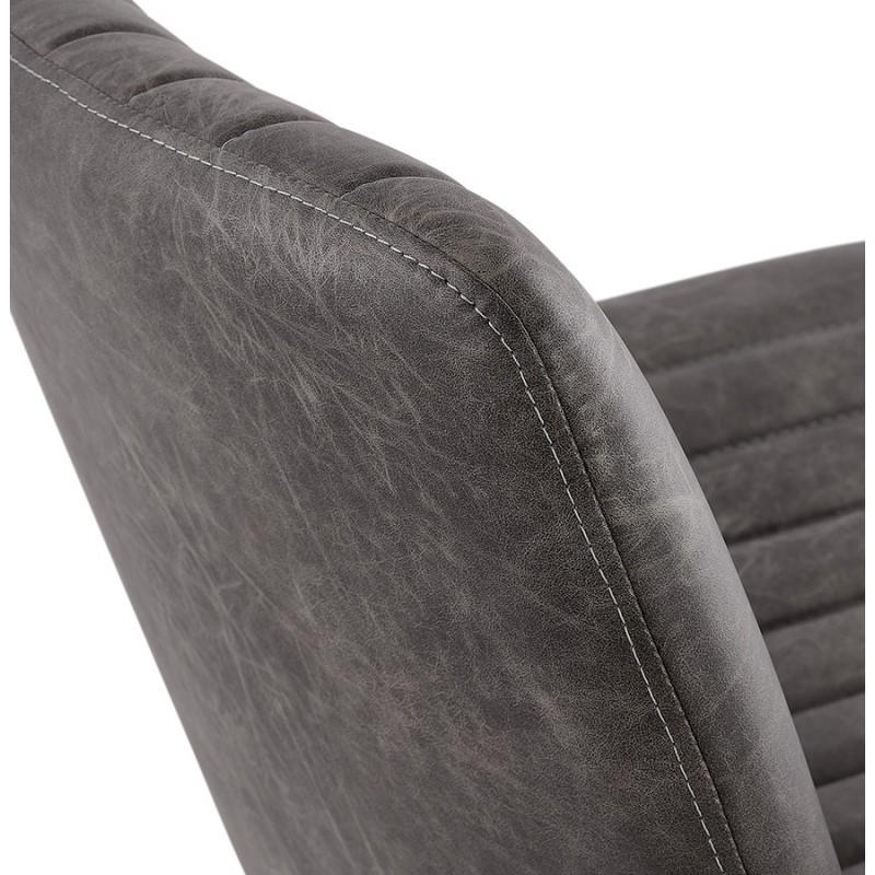 Fauteuil vintage pivotant PALOMA (gris foncé) - image 47275