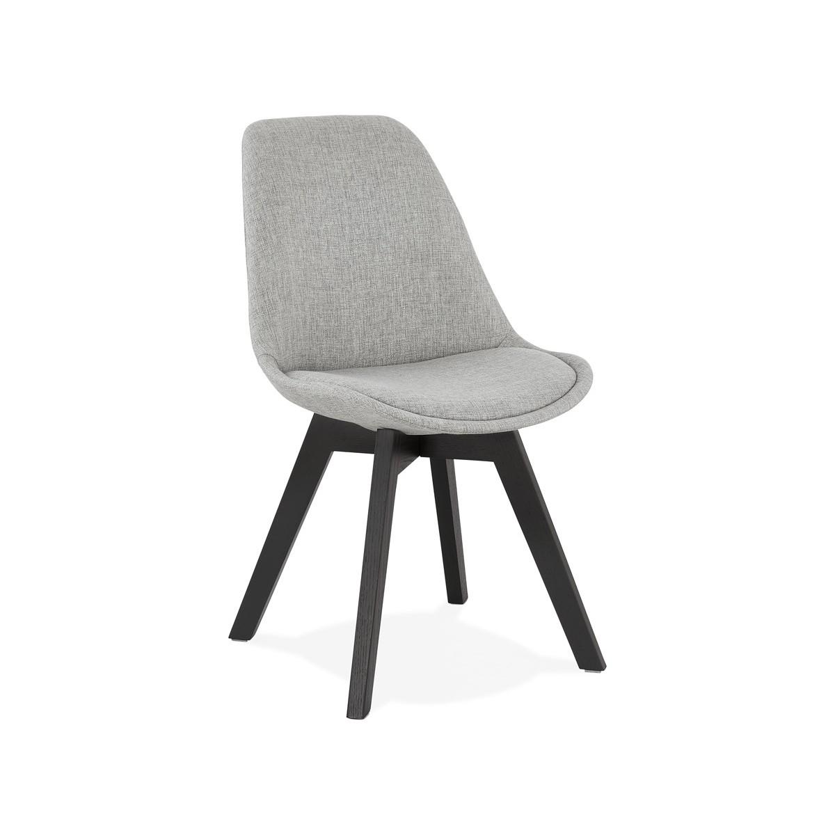 Naya Schwarz Holz Fuss Stoff Design Stuhl Grau Amp Story 6870