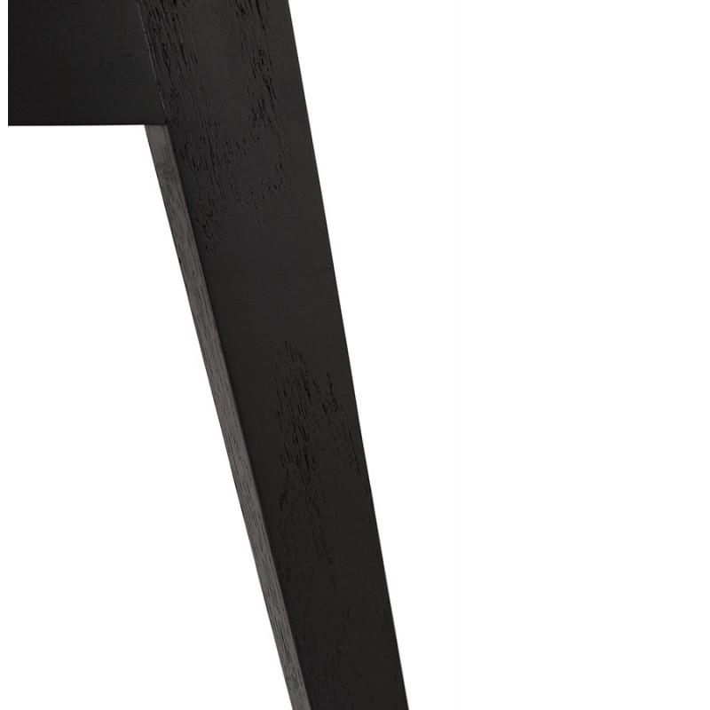 Chaise design pieds bois noir MAILLY (noir) - image 47533