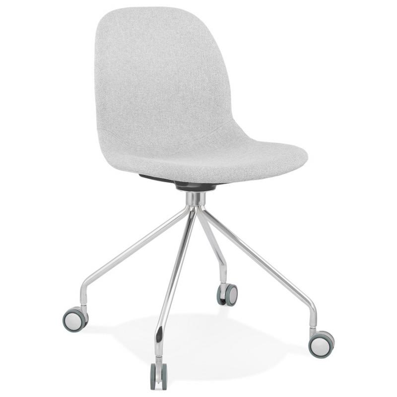 Chaise de bureau sur roulettes en tissu MARYA (gris clair) - image 47633