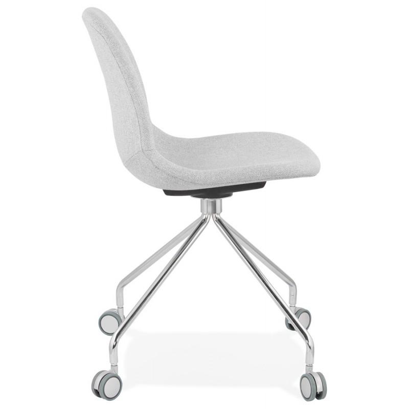 Chaise de bureau sur roulettes en tissu MARYA (gris clair) - image 47635