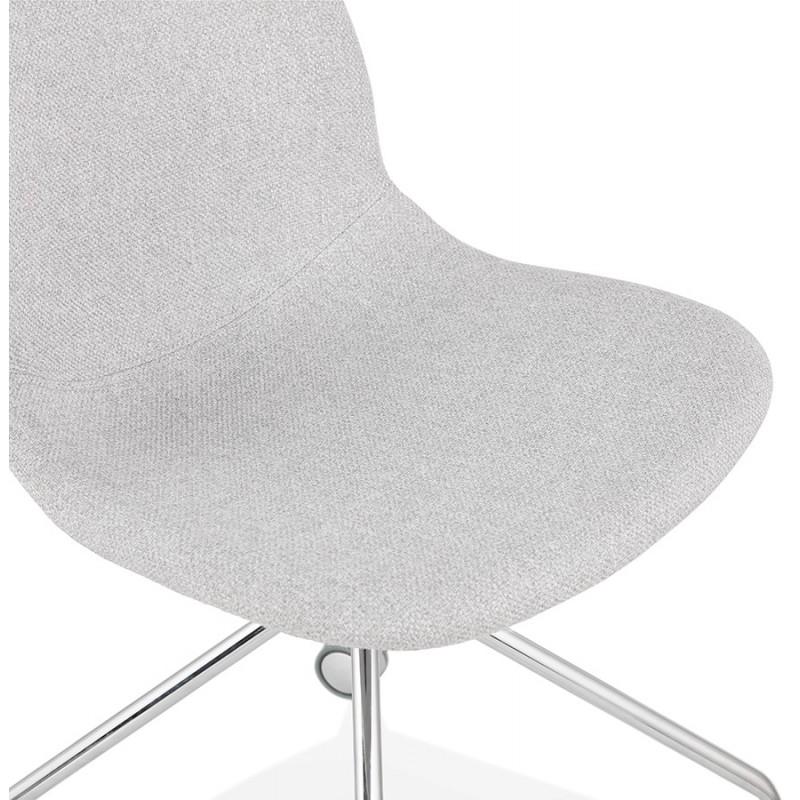 Chaise de bureau sur roulettes en tissu MARYA (gris clair) - image 47638