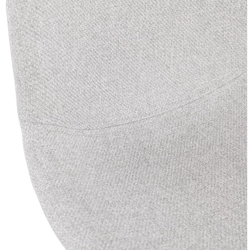 Chaise design industrielle en tissu pieds métal chromé MOUNA (gris clair) - image 47675