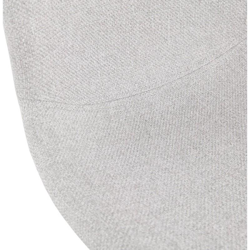 Chaise design empilable en tissu pieds métal noir MANOU (gris clair) - image 47712
