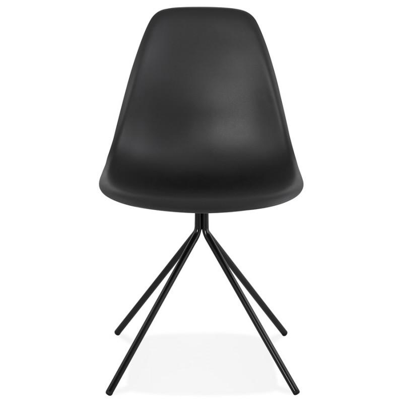Chaise design industrielle pieds métal noir MELISSA (noir) - image 47759