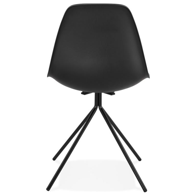 Chaise design industrielle pieds métal noir MELISSA (noir) - image 47762