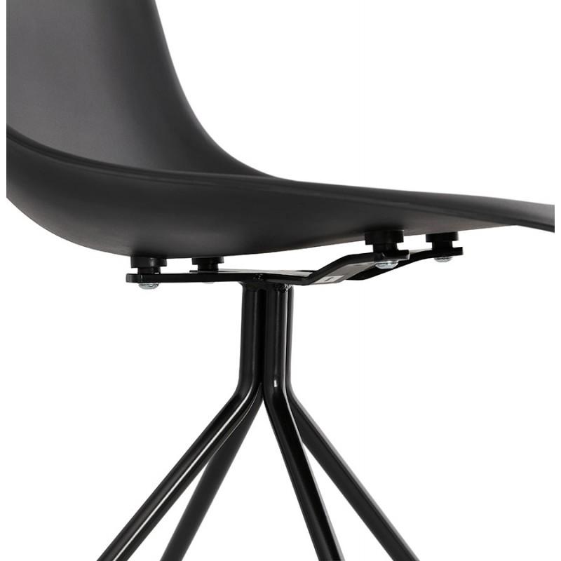 Chaise design industrielle pieds métal noir MELISSA (noir) - image 47766