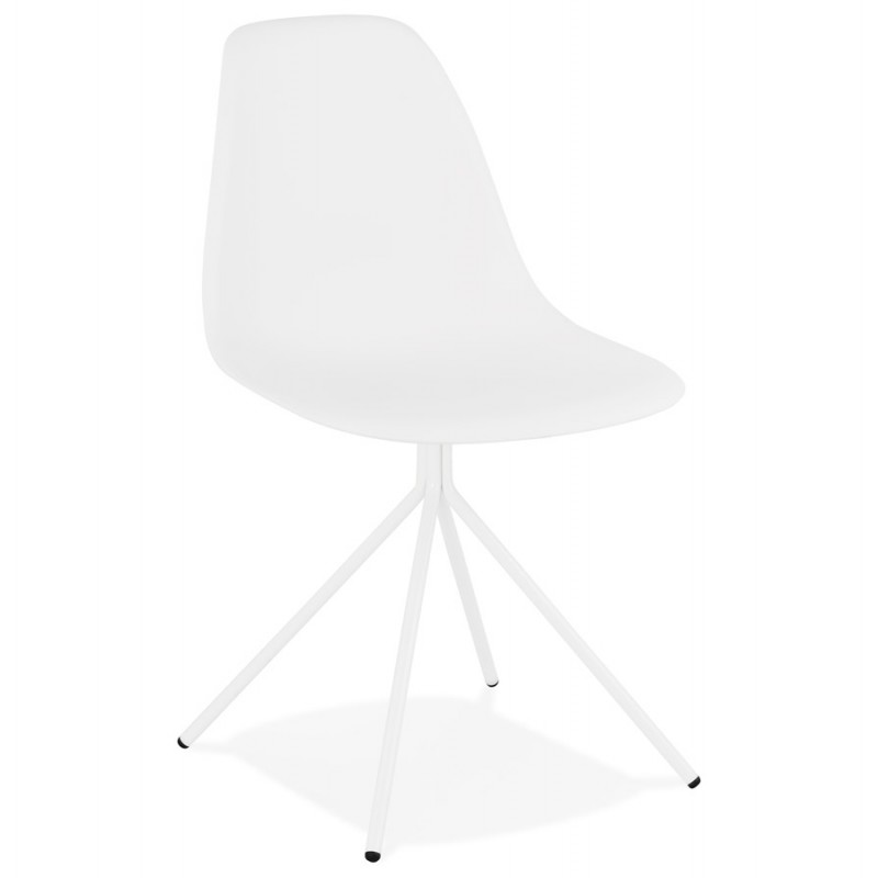 Industrial design chair feet white metal MELISSA (white)