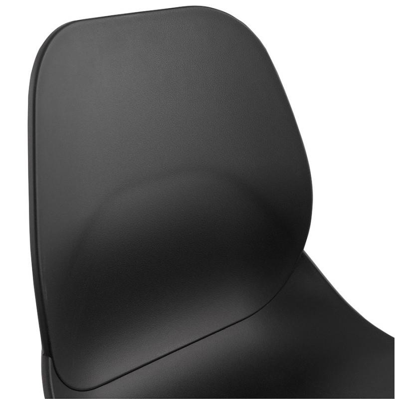 Chaise design empilable pieds métal blanc MALAURY (noir) - image 47779