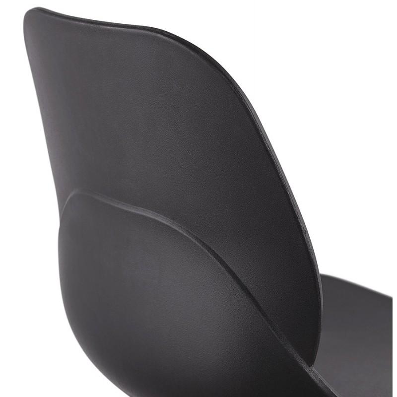 Chaise design empilable pieds métal blanc MALAURY (noir) - image 47781
