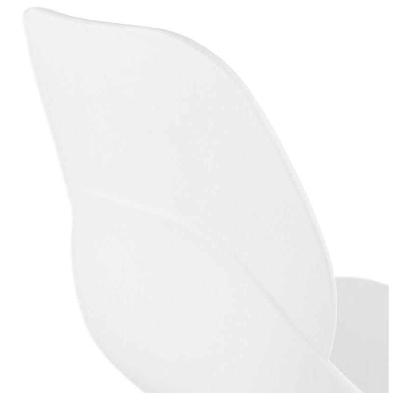 Chaise design empilable pieds métal blanc MALAURY (blanc) - image 47802