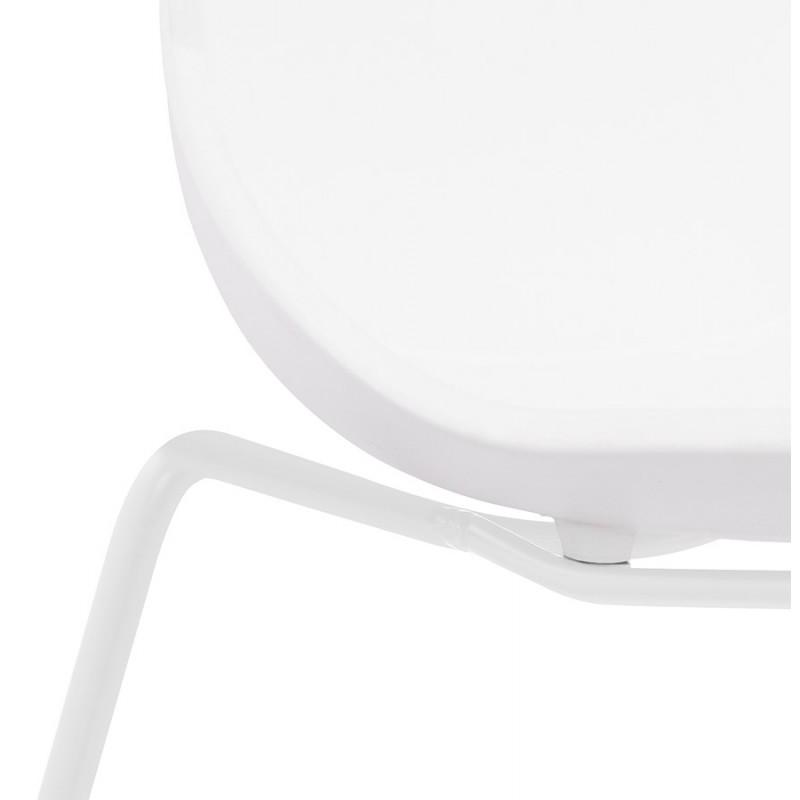 Chaise design empilable pieds métal blanc MALAURY (blanc) - image 47804