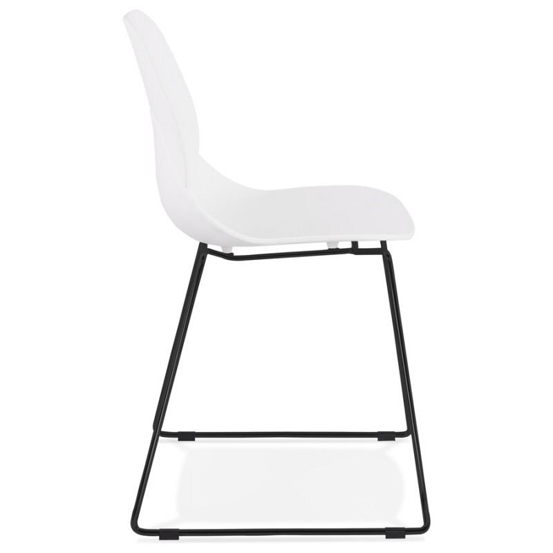Chaise design empilable pieds métal noir MALAURY (blanc) - image 47853