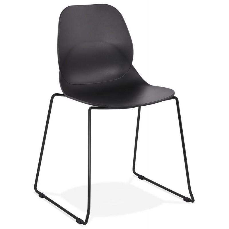 Chaise design empilable pieds métal noir MALAURY (noir) - image 47860