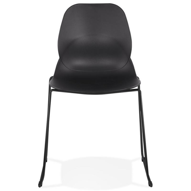 Chaise design empilable pieds métal noir MALAURY (noir) - image 47861