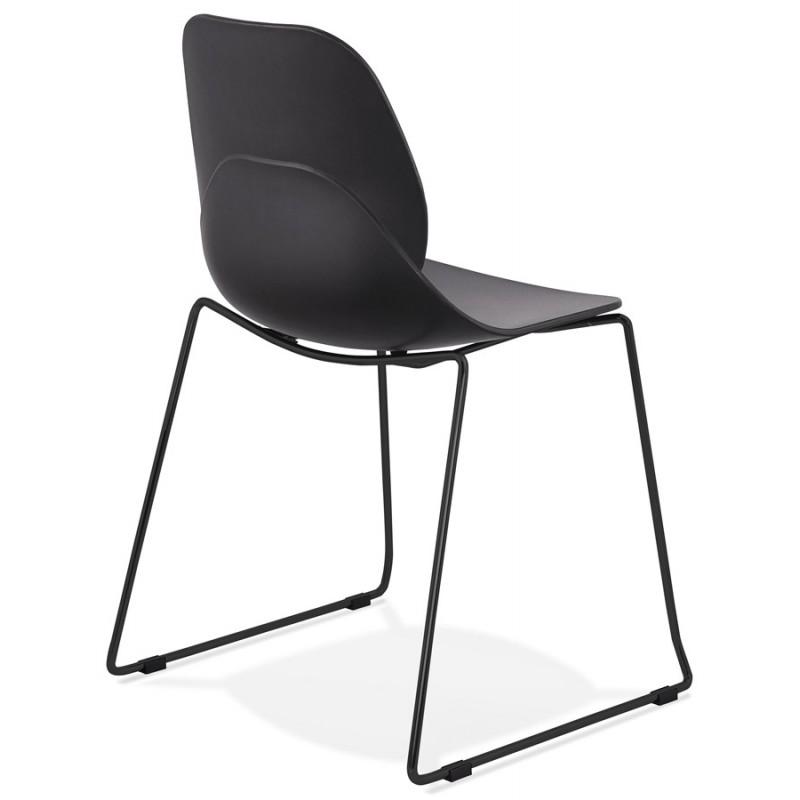 Chaise design empilable pieds métal noir MALAURY (noir) - image 47863