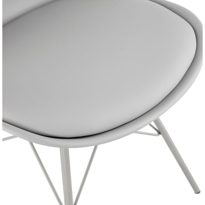 Chaise design style industriel SANDRO (gris clair) - image 47929