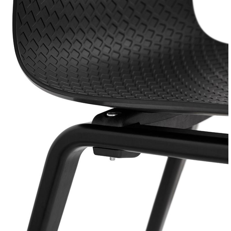 Chaise design pieds bois noir SANDY (noir) - image 47973