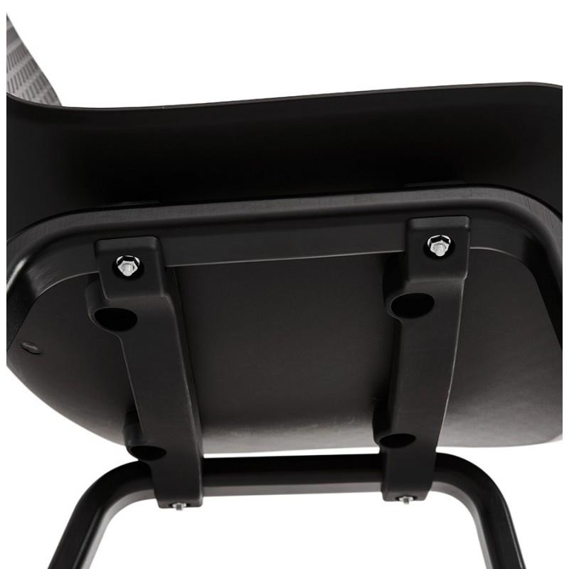 Silla de diseño de pie de madera negra sandy (negro) - image 47974