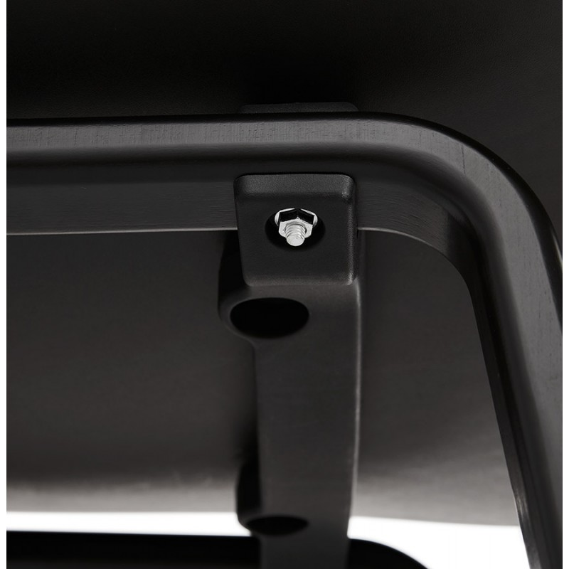Silla de diseño de pie de madera negra sandy (negro) - image 47975