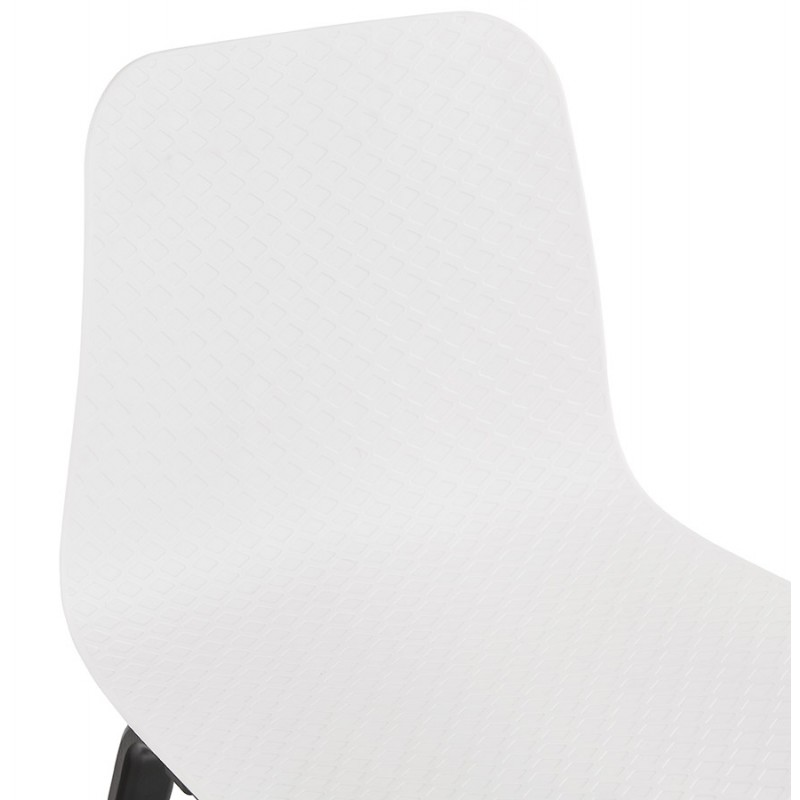 Sandy black wooden foot design chair (white) - image 47985