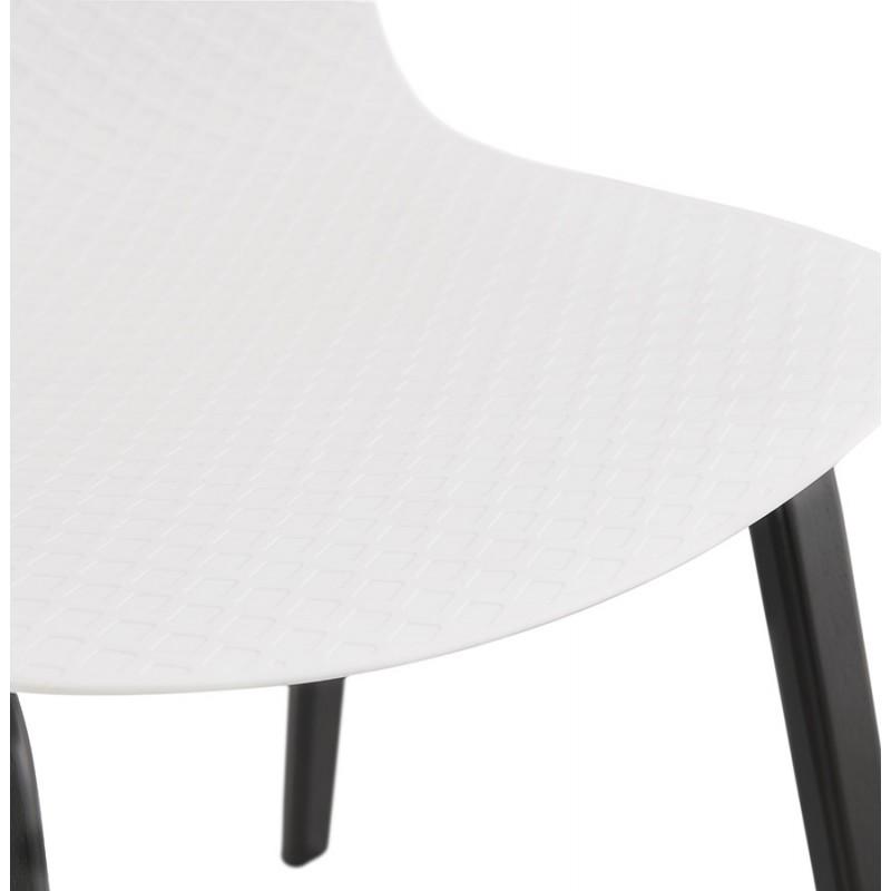 Sandy black wooden foot design chair (white) - image 47986