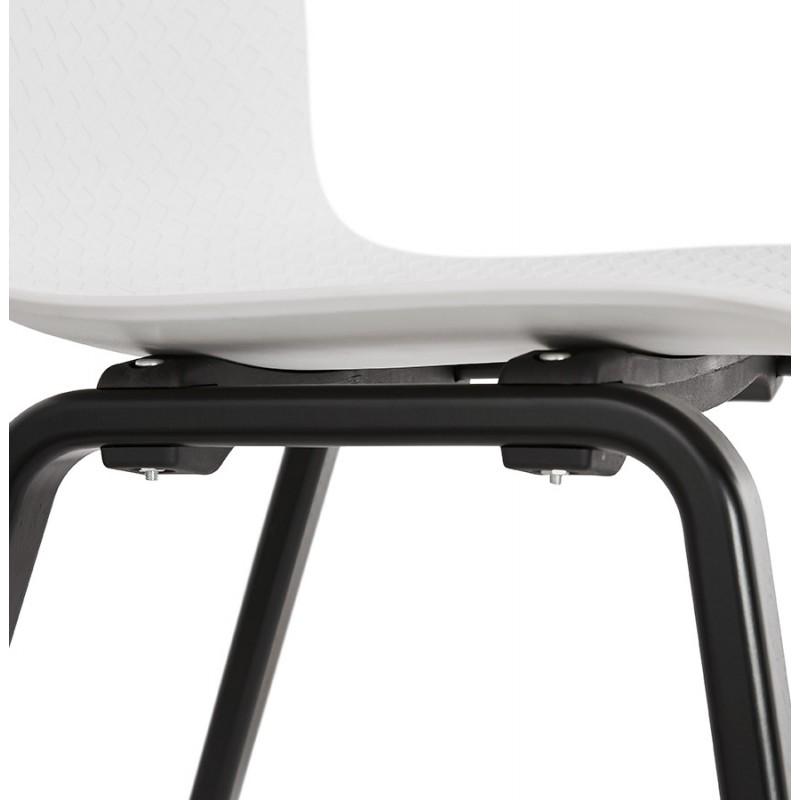 Chaise design pieds bois noir SANDY (blanc) - image 47987