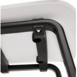 Sandy black wooden foot design chair (white)