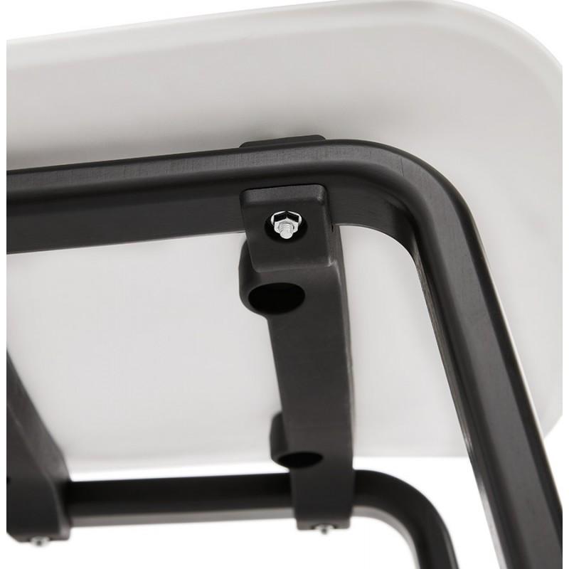 Chaise design pieds bois noir SANDY (blanc) - image 47990