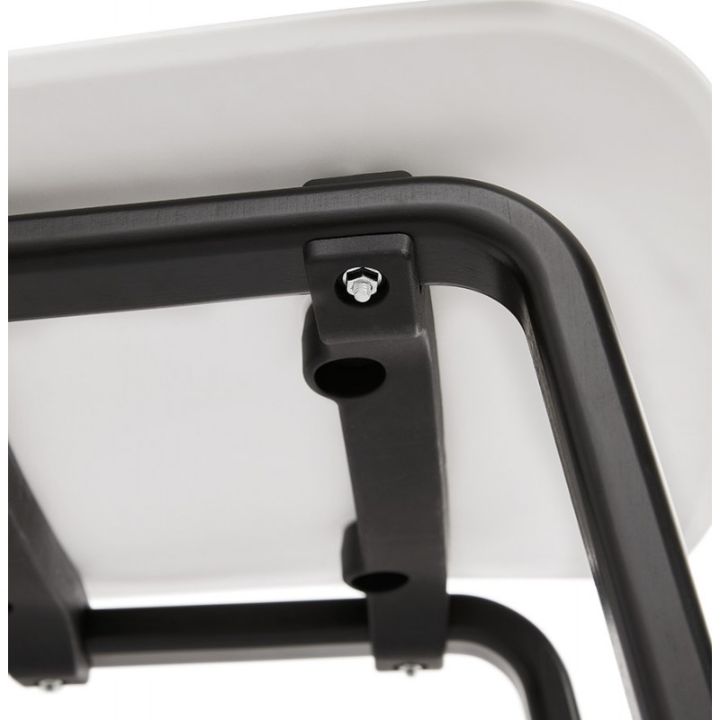 Sandy schwarz Holz Fuß Design Stuhl (weiß) - image 47990