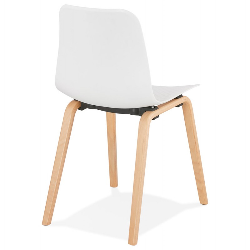 Sedia scandinava design piede in legno finitura naturale SANDY (bianco) - image 48012