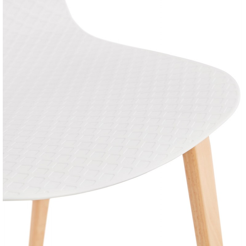 Sedia scandinava design piede in legno finitura naturale SANDY (bianco) - image 48016