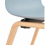 Sedia scandinava piede piede finitura naturale in legno SANDY (azzurro cielo)