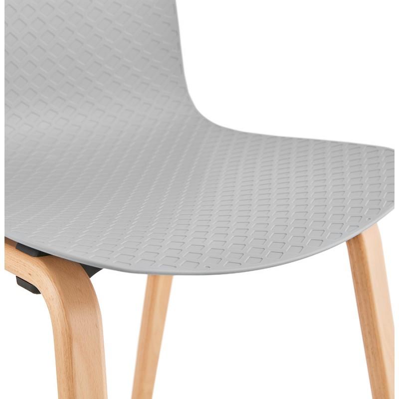 Stuhl Design skandinavischen Fuß Holz natürliche Oberfläche SANDY (hellgrau) - image 48060