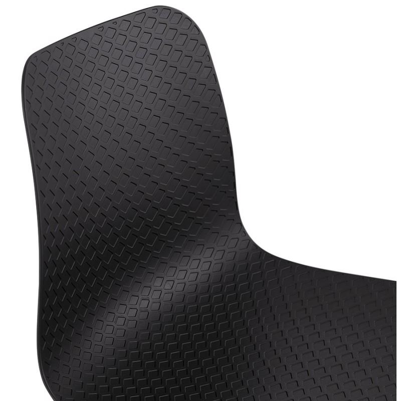Silla de diseño escandinavo pie de madera acabado natural SANDY (negro) - image 48073