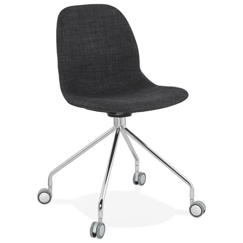 Chaise de bureau sur roulettes en tissu MARYA (gris anthracite) - image 48080