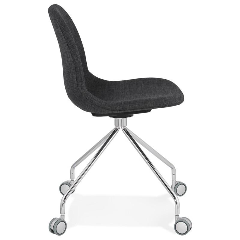 Chaise de bureau sur roulettes en tissu MARYA (gris anthracite) - image 48082