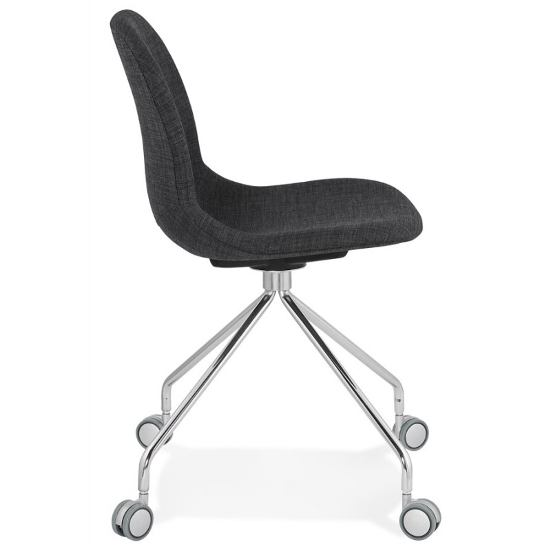 Bürostuhl auf Rädern aus MARYA-Stoff (anthrazitgrau) - image 48082