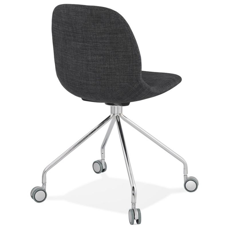 Chaise de bureau sur roulettes en tissu MARYA (gris anthracite) - image 48083