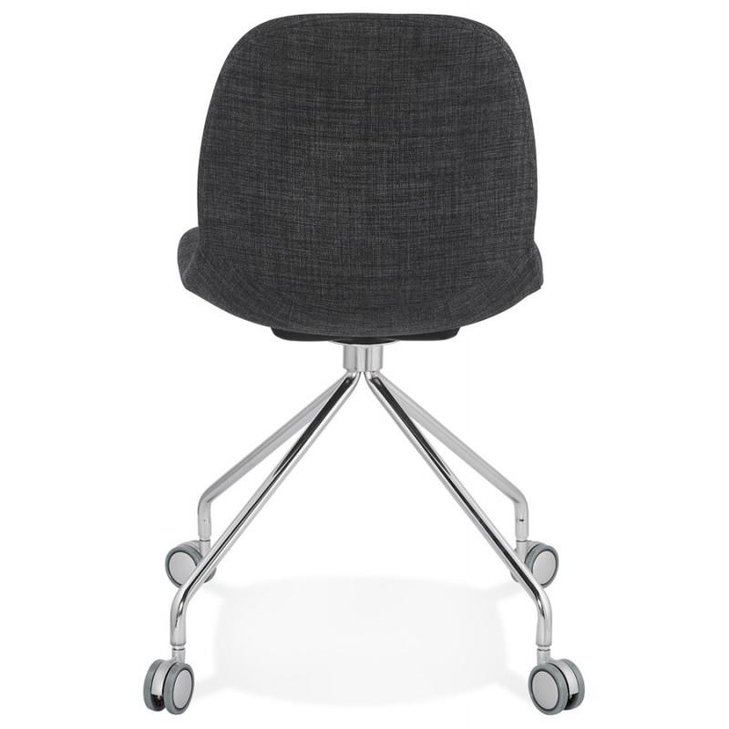 Chaise de bureau sur roulettes en tissu MARYA (gris anthracite) - image 48084