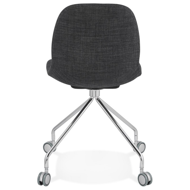 Bürostuhl auf Rädern aus MARYA-Stoff (anthrazitgrau) - image 48084
