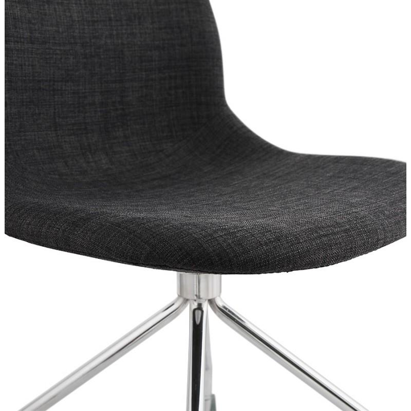 Chaise de bureau sur roulettes en tissu MARYA (gris anthracite) - image 48086