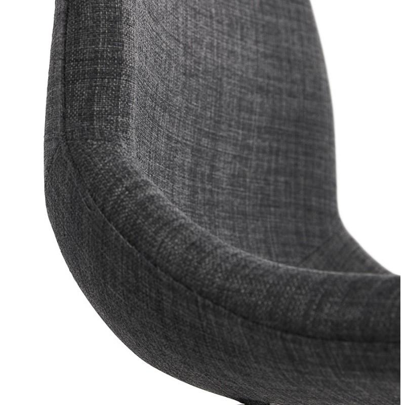 MOUNA schwarz Metall Fuß Stoff Design Stuhl (anthrazitgrau) - image 48115